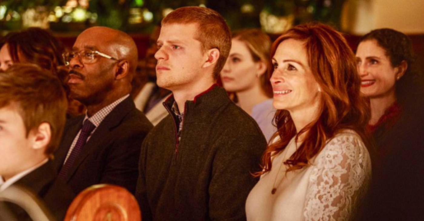 Courtney B. Vance, Lucas Hedges and Julia Roberts in Ben Is Back