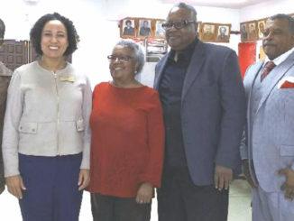 Morandon A. Henry, Rochelle Pardue-Okimoto, Cora J. Ward, and Minister Derek Mitchell (Photo courtesy of Dorris Holland)
