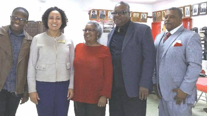 Morandon A. Henry, Rochelle Pardue-Okimoto, Cora J. Ward, and Minister Derek Mitchell (Photo courtesy of Dorris Holland)