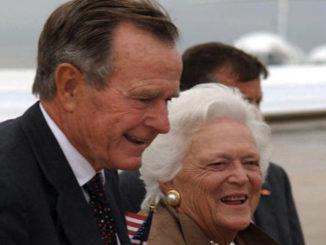 George H.W. Bush and Barbara Bush.