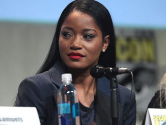 Keke Palmer speaking at San Diego Comic Con International.