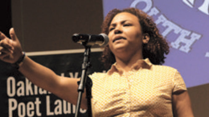 Leila Mottley, a student at Oakland School of the Arts, has served as Oakland's 2018 youth poet laureate.