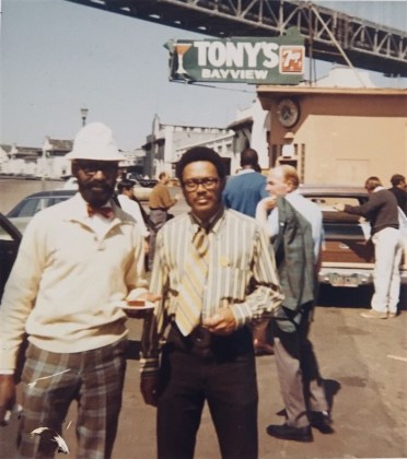 Longshoremen George Carter and George Donald Porter, circa 1965