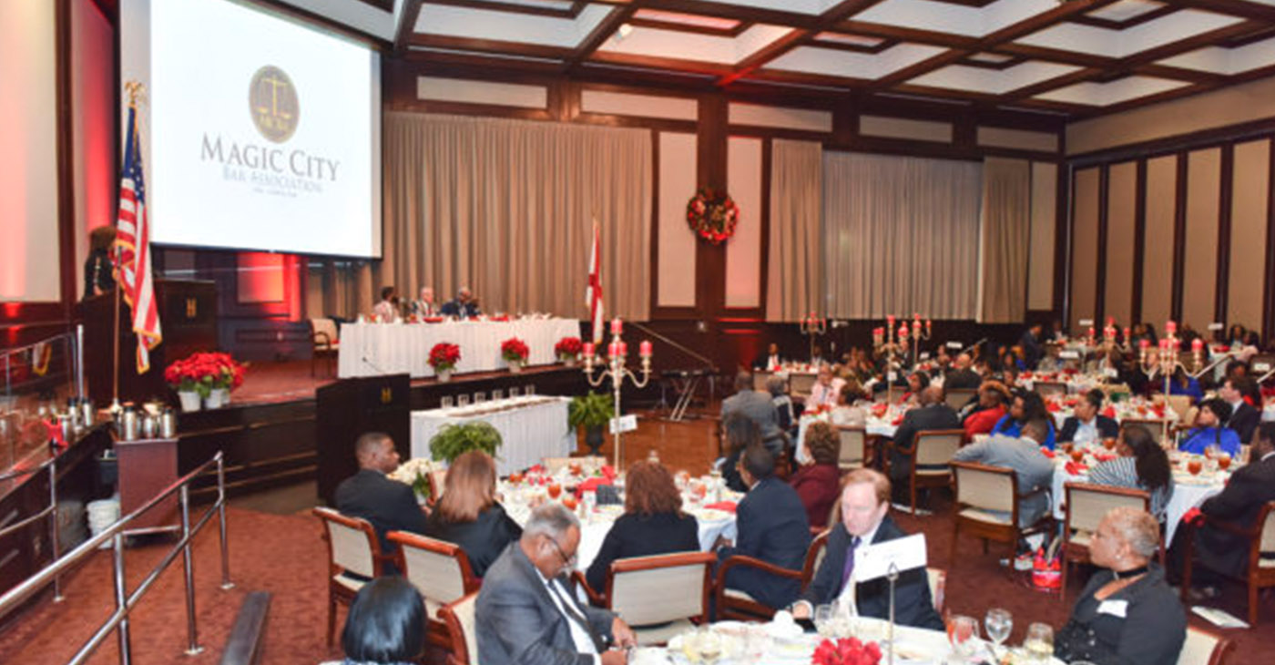 The Magic City Bar Association Scholarship Banquet where 8 law school recipients were awarded scholarships held at the Harbert Center Thursday November 29, 2018.. (Frank Couch for The Birmingham Times)