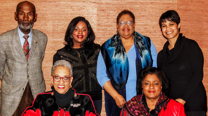 NCNW Chair Dr. Johnnetta B. Cole, NCNW Executive Director Janice Mathis and members of the press, hold an intimate meeting. (Photo Credit: Flo McAfee)