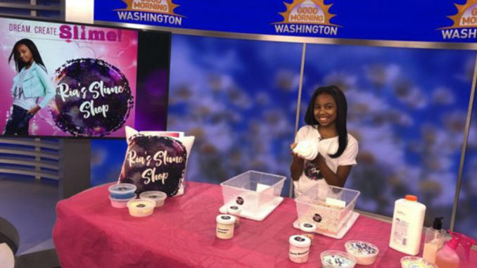 """The Science Princess"" Maria Raquel Thomas is a 12-year-old entrepreneur specializing in science and stress relief with her business, Ria's Slime Shop. (Courtesy Photo)"
