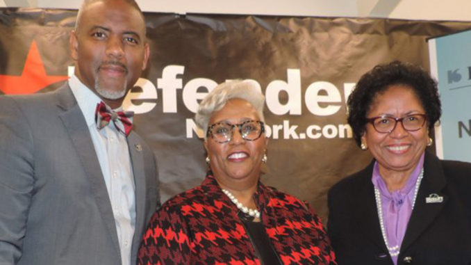 "(l-r) Dr. Austin Lane, Sonceria ""Sonny"" Messiah Jiles, and Dr. Ruth Simmons"