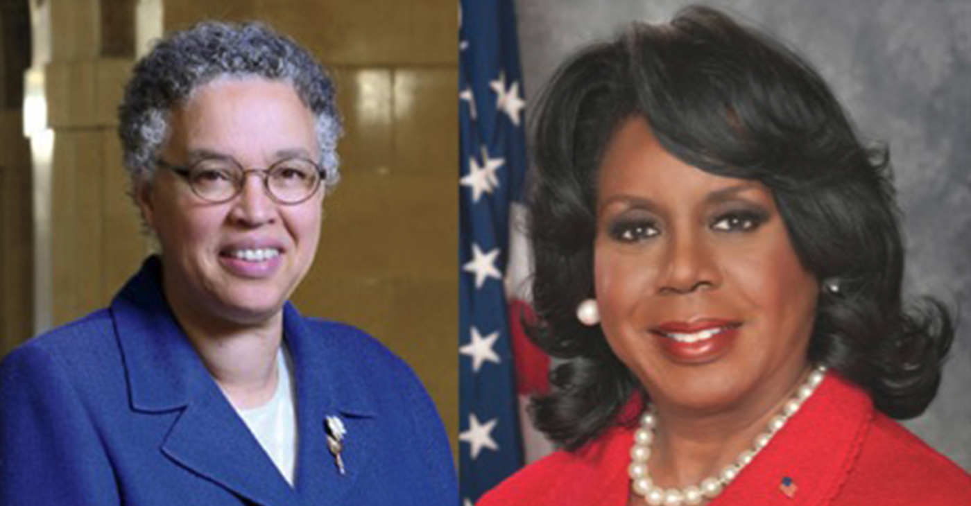 Toni Preckwinkle and Dorothy Brown