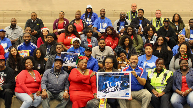 Volunteers at the Toys for Tots distribution included TSU students, staff, alumni and representatives from charitable and church organizations.