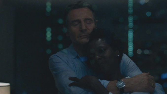 "Liam Neeson and Viola Davis star in ""Widows"""