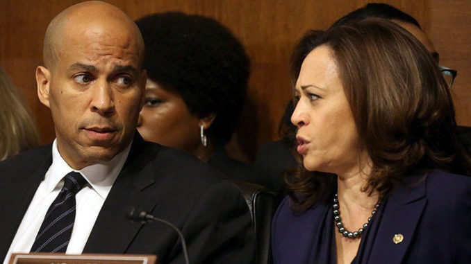 The effort was led by Democratic senators Cory Booker of New Jersey and Kamala Harris of California (Source: Twitter.com)