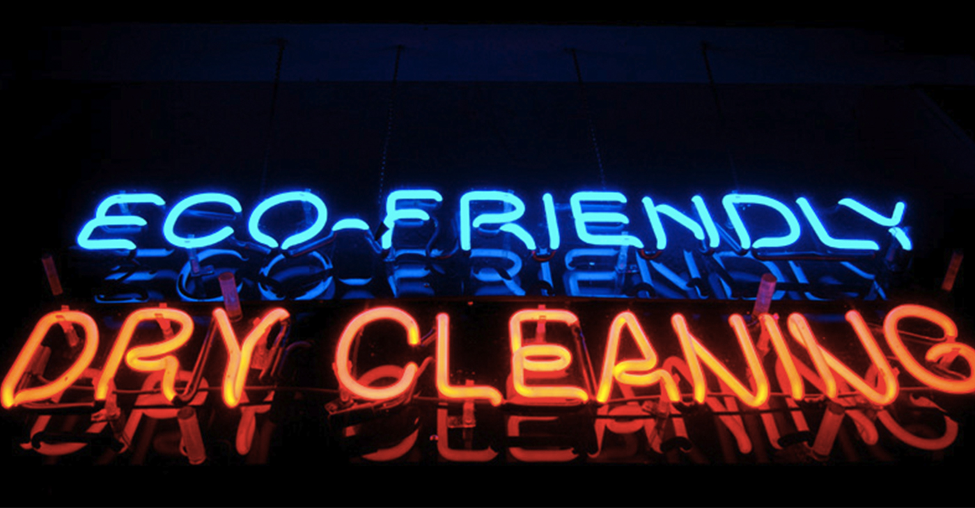 """Even though greener options are widely available, 80 percent of dry cleaners still use potentially toxic """"perc"""" to clean fabrics. Photo: Jeremy Brooks, FlickrCC."""