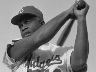 Jackie Robinson in 1954 (Photo by: Bob Sandberg | Wiki Commons)