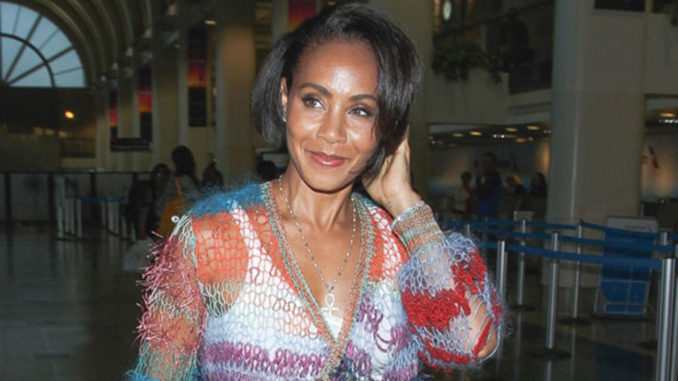 Jada Pinkett Smith at LAX. (Photo credit: Splash News)