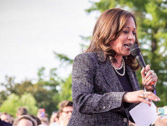 "Senator Kamala Harris speaking at ""Linking Together: March to Save Our Care"" Rally at the U.S. Capitol on June 28, 2017. (Photo by: Douglas Fron 