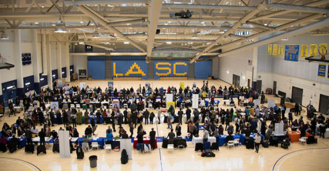 Hundreds of job seekers meet potential career providers at the LASC Homeless Service Professionals Job Fair. (Photo by: E. Mesiyah McGinnis/ L.A. Sentinel)