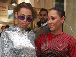 Mel B (right) and daughter ttended the Hello! magazine x Dover Street Market30th anniversary party in London on May 9, 2018 (Photo credit: Brett D. Cove/Splash News)