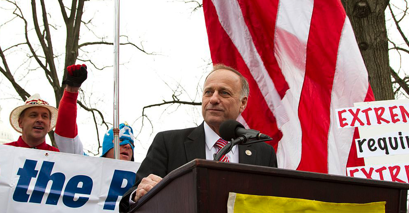 Rep. Steve King speaking (Photo by: Mark Taylor | Wiki Commons)