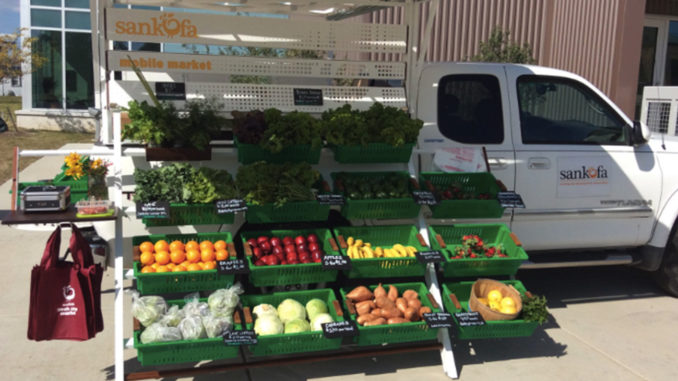 Sankofa mobile fresh produce market. (Photo courtesy of Twitter)