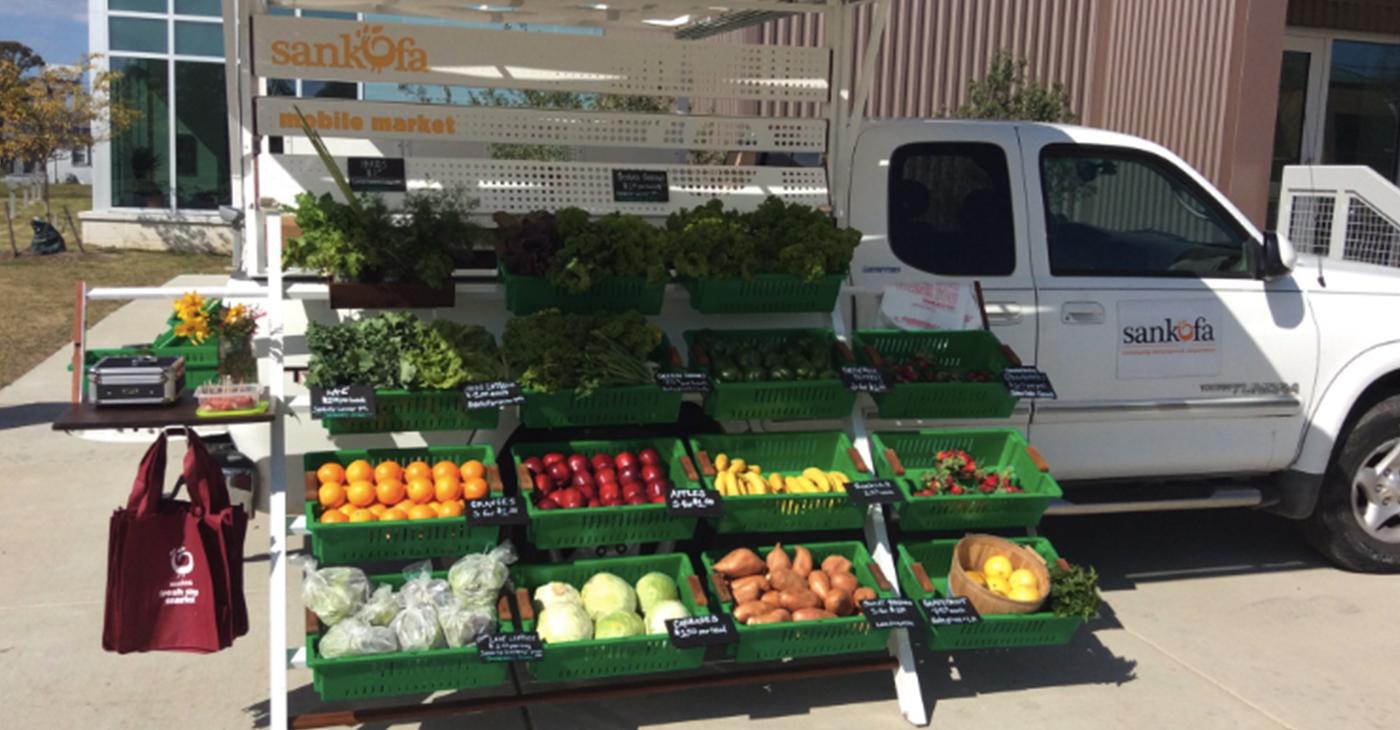 Sankofa mobile fresh produce market. (Photo courtesy of Twitter)