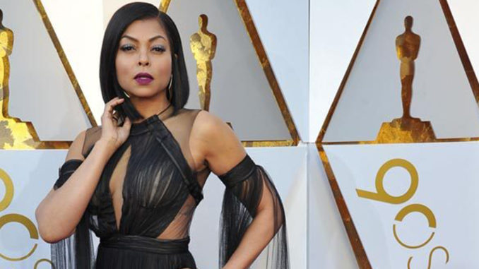 Taraji P.Henson at the 90th Annual Academy Awards (Photo credit: Goodloe/ Lowery / Splash News)