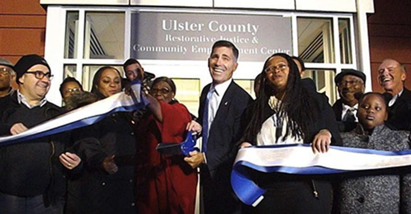 Ulster County Executive Michael Hein was joined by judges, legislators and other members of the community on Thursday for the ribbon cutting.
