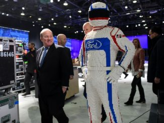 Mayor Mike Duggan took a tour of the NAIAS showroom Monday morning.(Photo By: michronicleonline.com)