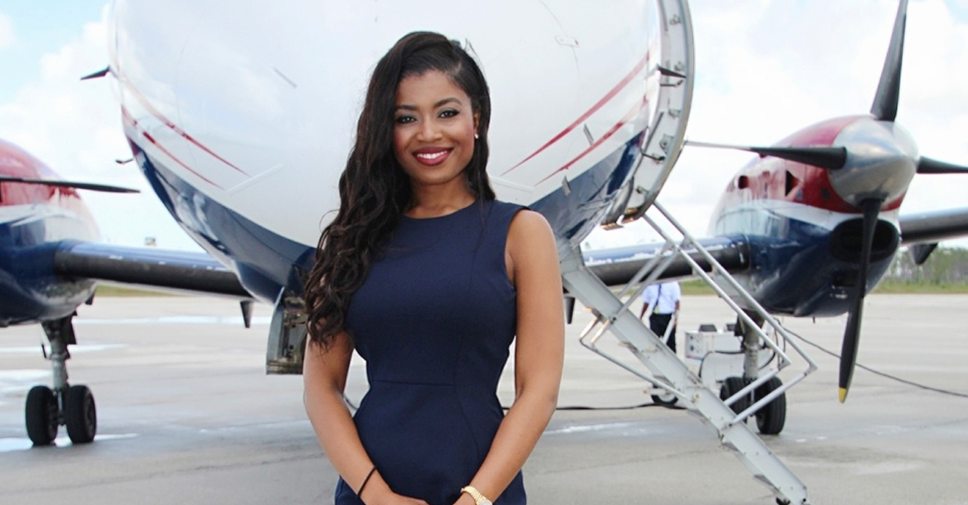 """At 30, Sherrexcia """"Rexy"""" Rolle serves as vice president of operations and general counsel of Western Air Limited, her family's company and the largest privately-owned airline in the Bahamas. (Photos: Instagram and Twitter)"""