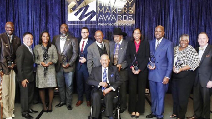 Comcast and Houston Mayor Sylvester Turner honor ten community volunteers and civic leaders at the second-annual Mayor's History Makers Awards Luncheon (Photo by: forwardtimes.com)