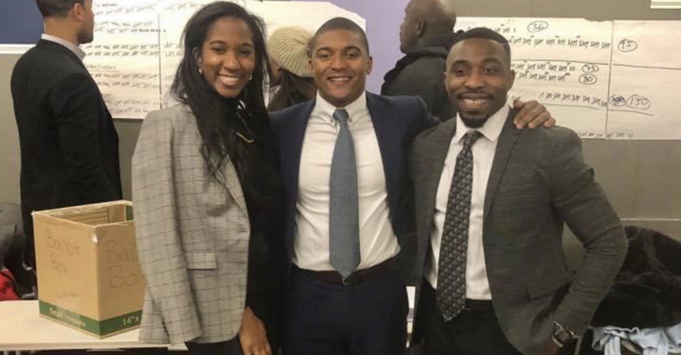 Newly elected Executive Committee members Sheika Reid (National Committeewoman); Marcus Goodwin (President) and Brandon Frye (Vice President of Administration and Finance). (Courtesy Photo)