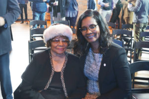 Tribune Publisher Rosetta Miller Perry, left, and Vivica M. Brown, Esq., IAP, Vice President, Fraport USA