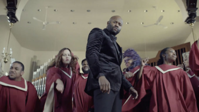 Shannon Sanders and the Nashville Urban Choir in the video for 'Fight On.'