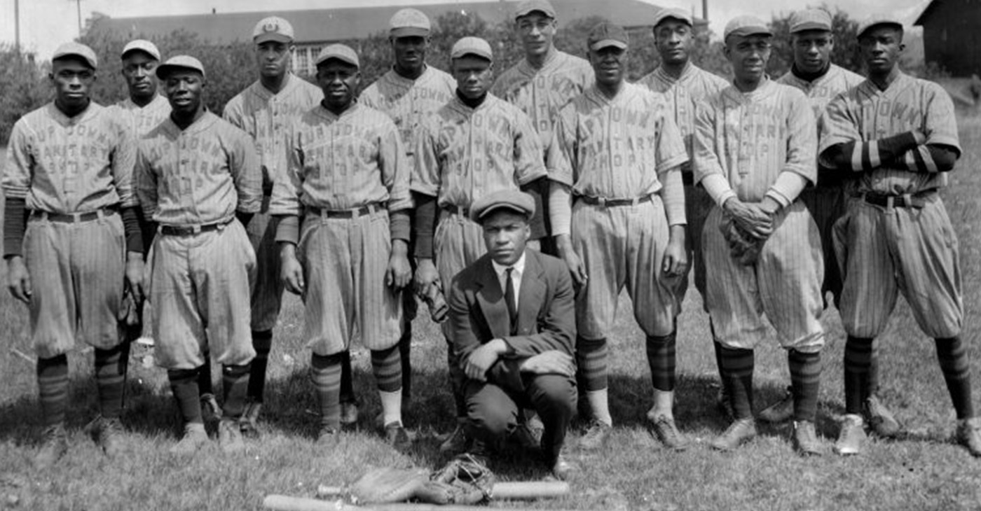 The Uptown Sanitary Shop baseball team of St. Paul circa 1930-1939. (Photo by A.P. Rhodes)