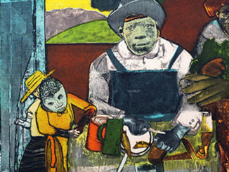 Romare Bearden, The Family, etching, 1975 from the Thompson-Wilson Collection. (Image courtesy of TSU)