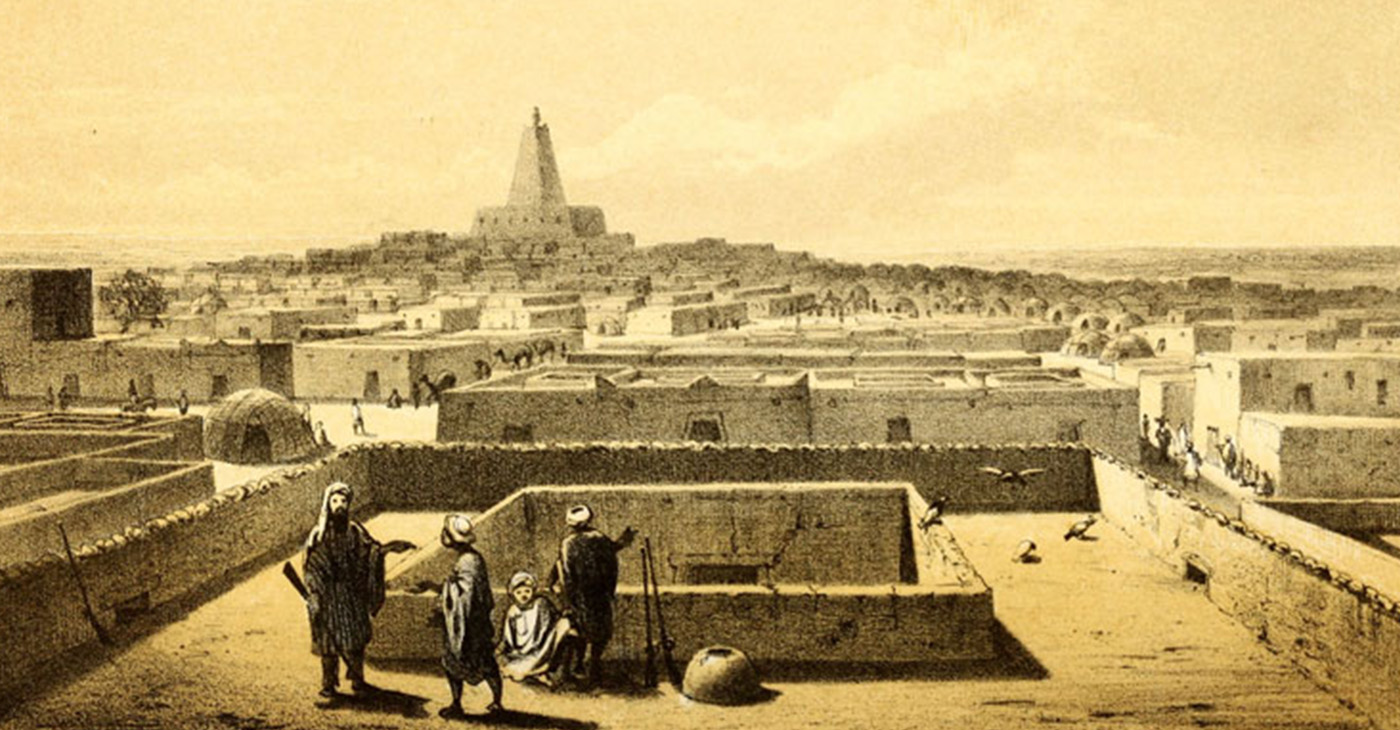 A view of Timbuktu and the University of Sankoré (Image Source: Drawn by Martin Bernatz (1802–1878) after a sketch by Heinrich Barth (1821-1865)-Public Domain)