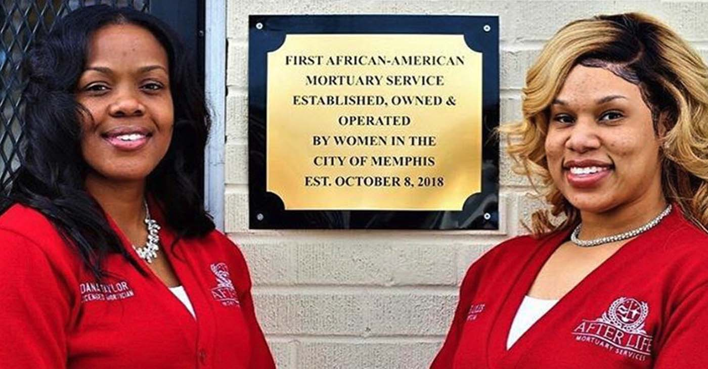 Madeline Lyles and Dana Taylor are staking their claim as the founders of the first mortuary service owned and operated by women in Memphis. (Courtesy photo)