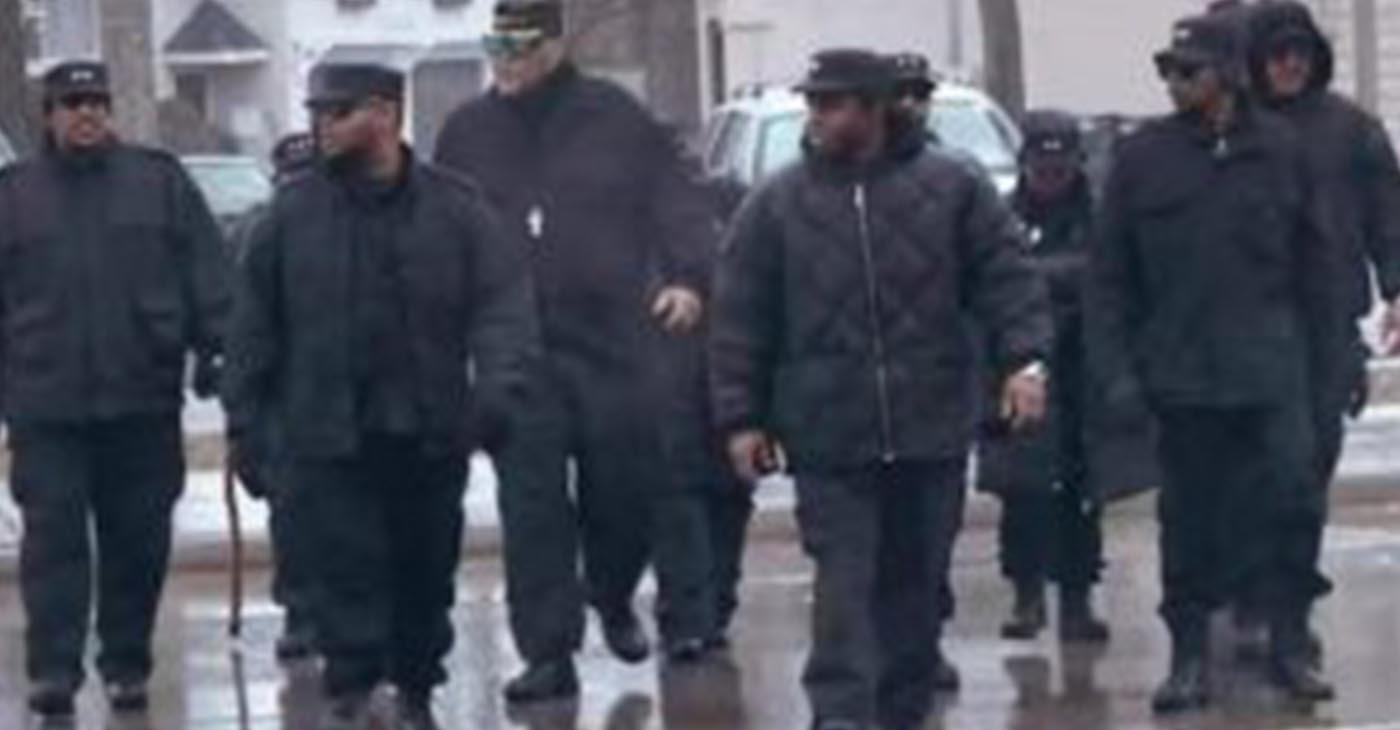The Black Panthers on patrol. (Photo courtesy the Original Black Panthers of Milwaukee.)