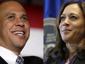 Senator Cory Booker and Senator Kamala Harris