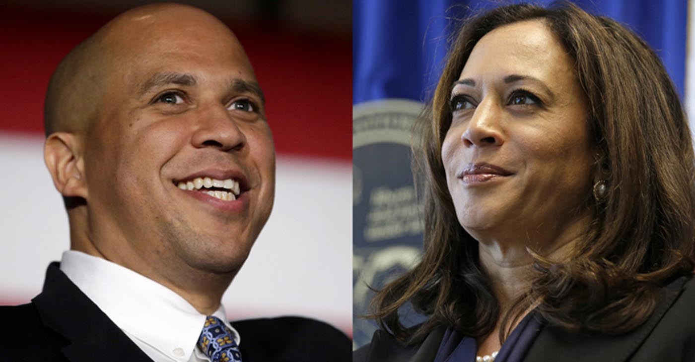 Senator Cory Booker and Senator Kamala Harris
