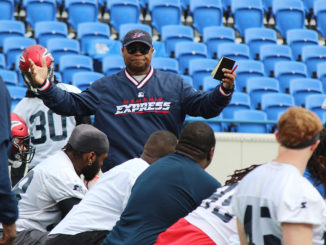 """Coaching (the Express), one after the other, it's outstanding. Everything I want to do is coaching and meeting and developing (players) and I'm excited about that,"" says Mike Singletary"