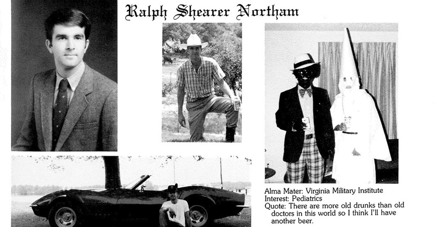 When racism is uncovered or exposed by anyone a change must take place. (Photo: Image from 1984 Eastern Virginia Medical College yearbook page of Virginia Governer Ralph Northam.)