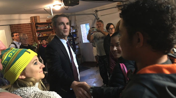 Ralph Northam meeting with volunteers in Blacksburg, VA (2017).