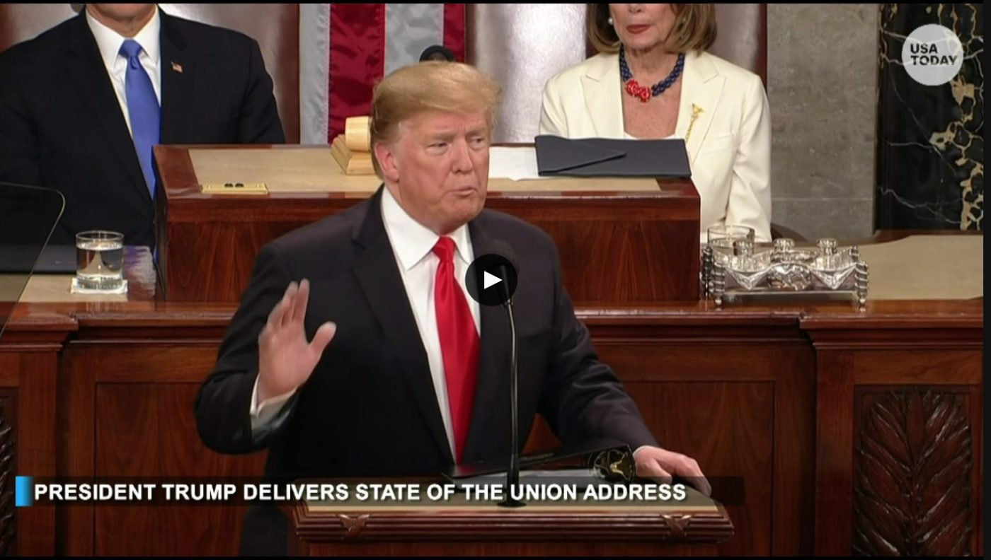 President Donald Trump delivers the State of the Union Address