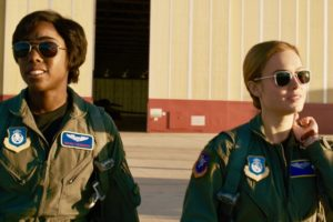 Marvel Studios' CAPTAIN MARVEL..L to R: Maria Rambeau (Lashana Lynch) and Captain Marvel (Brie Larson) ..Photo: Film Frame..©Marvel Studios 2019