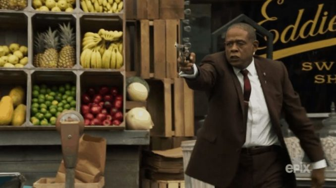 orest Whitaker stars as Bumpy Johnson (Image source: Epix Publicity photo for Godfather of Harlem)