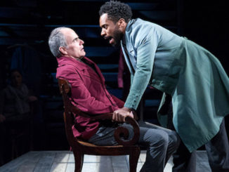 """Eric Hissom (left) and Joshua David Robinson star in """"JQA"""" at Arena Stage. (Photo by C. Stanley Photography)"""