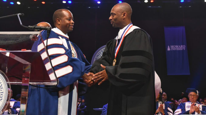 Charles D. King, is pictured along with Howard University President Wayne A.I. Frederick/Courtesy Howard University