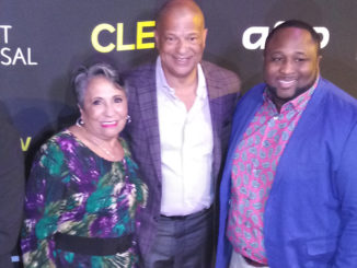 "Urban One Founder Cathy Hughes (left) with Urban One President and CEO Alfred Liggins III (Center) and Cleo TV ""New Soul Kitchen"" Star Chef Jernard Wells"
