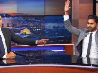 """""""Senior Political Correspondent"""" Hasan Minhaj and Trevor Noah of The Daily show"""