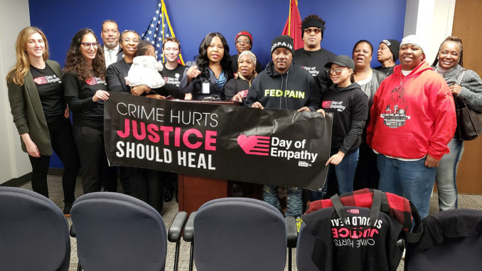 Local politicians in conjunction with Fedfam4life, Nashville Peacemakers, Project Return, Cut50, Women's March of Tennessee, Mothers over Murder, Magdalene Program, and FED Pain met with local citizens to share perspective on the impact of the justice system. (courtesy photo)